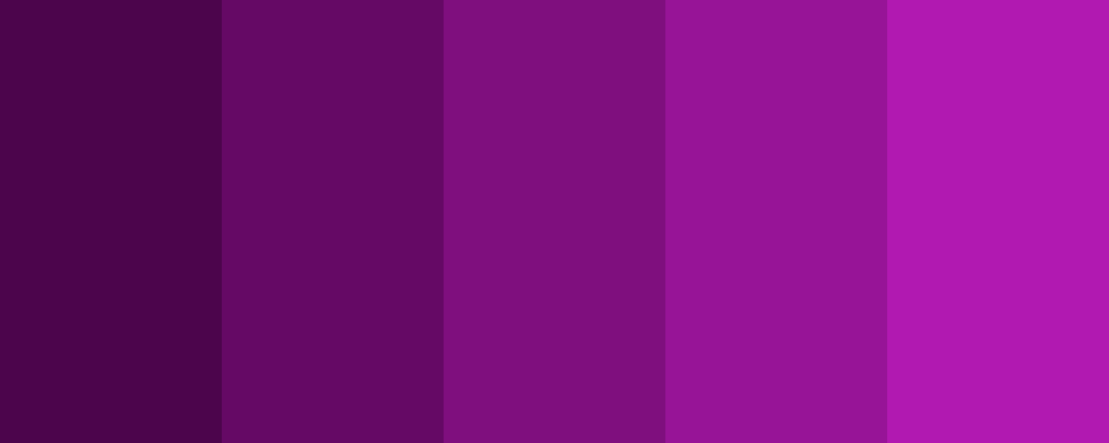 Five variations on purple