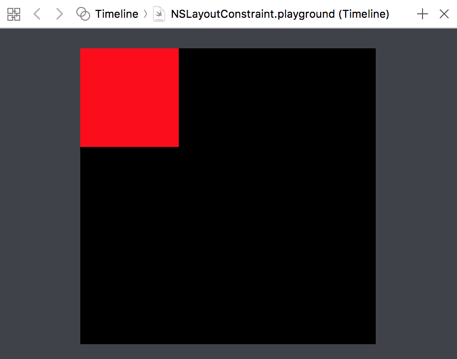 A black square with a red square in it