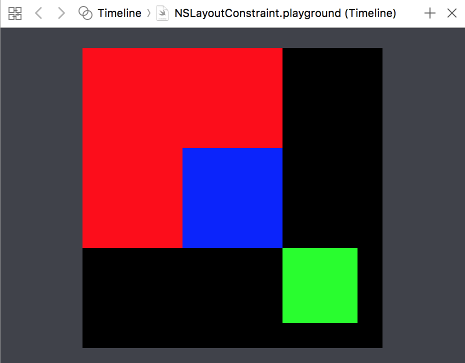 The black square with all the other colored squares in a composition